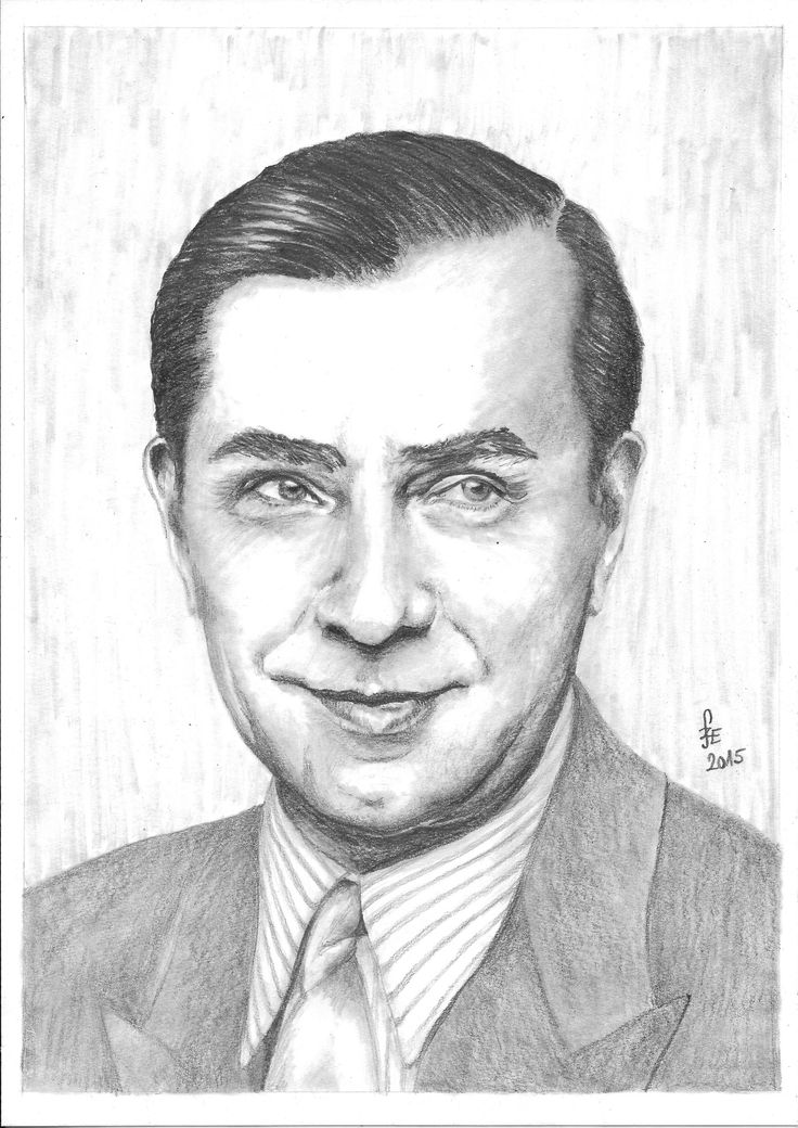 Pencil drawing portrait Lugosi Béla by Erika Székesvári  https://www.facebook.com/ercziart/