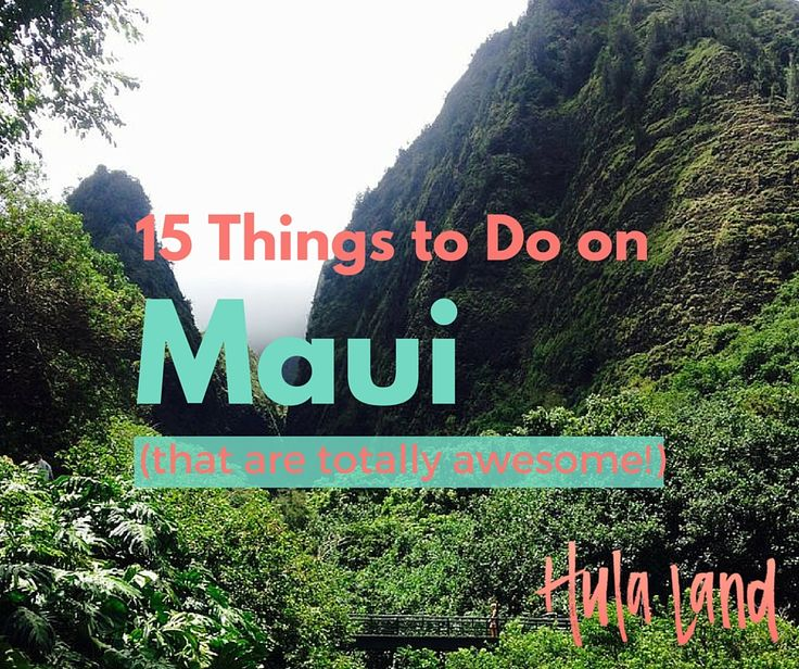 "Planning a vacation to Maui? Here are my 15 ""must do"" experiences. I've included popular experiences (hey, they're popular for a reason!) like snorkeling at Molokini, driving the Road to Hana, and seeing the sunrise from atop Haleakala but also more ""off the beaten path"" things like my favorite restaurant, the best town to shop in and a sure fire spot to find sea turtles! Let me know what you think...what's your favorite thing to do on Maui?"