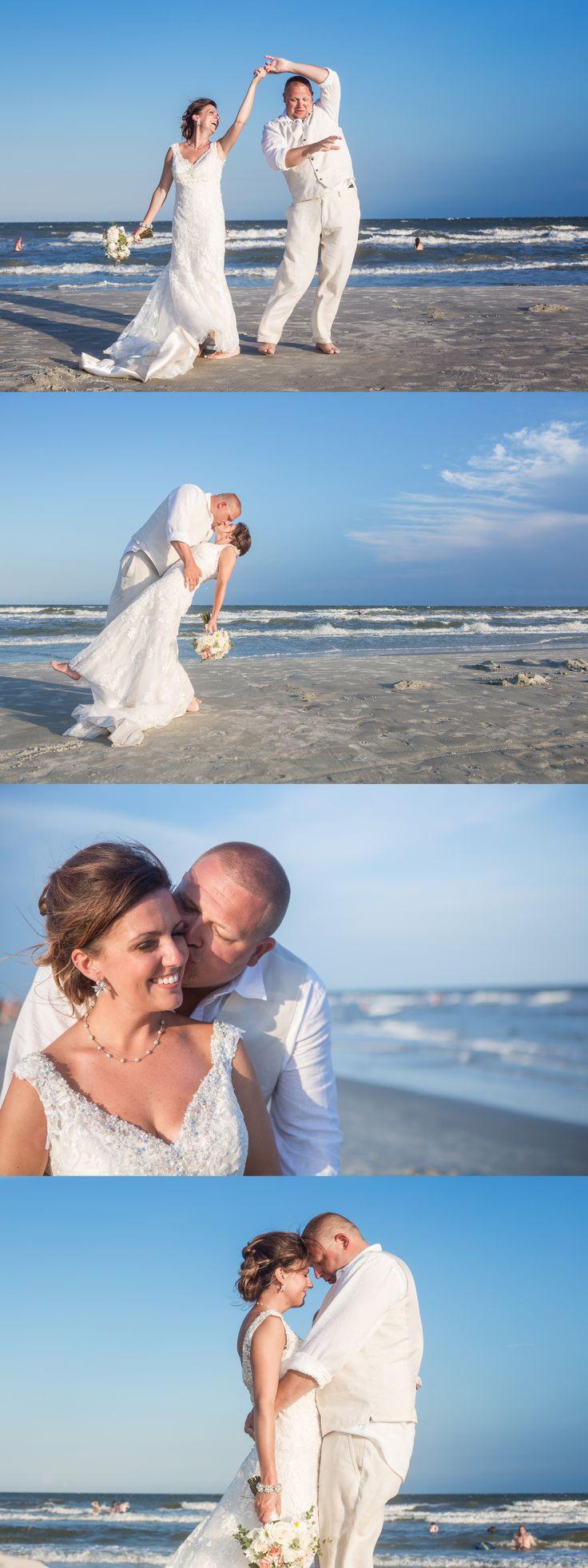 Bride and groom dancing on the beach. The Beach House. Hilton Head Island, SC. (c) Greg Ceo, SavannahWeddingphoto.com @thebeachhousehh