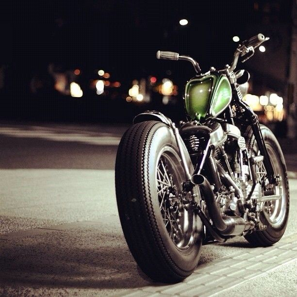 Harley Davidson vintage bobber, probably one of my favorite bikes. period. his inst tag is Loca1953.
