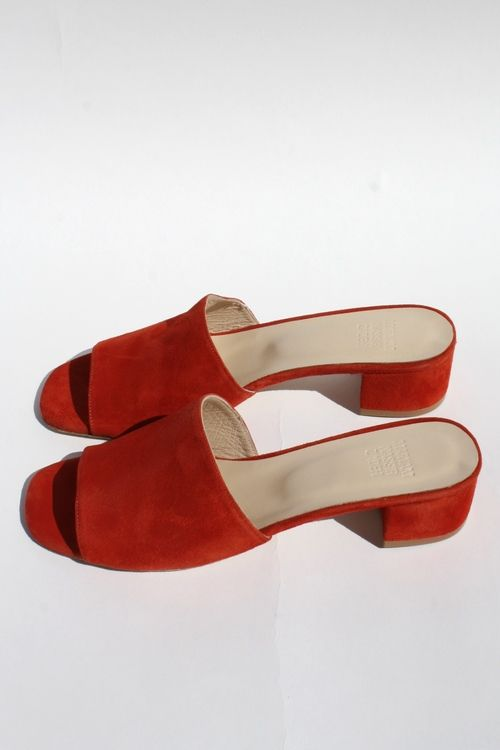 Maryam Nassir Zadeh.  shoes red suede.