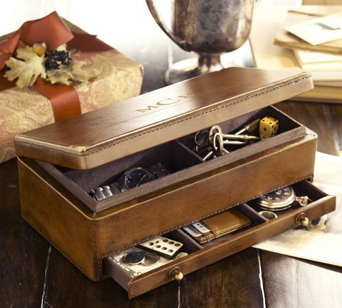 Manly Jewelry Box. The hubby needs somewhere to keep his new wedding ring. :)
