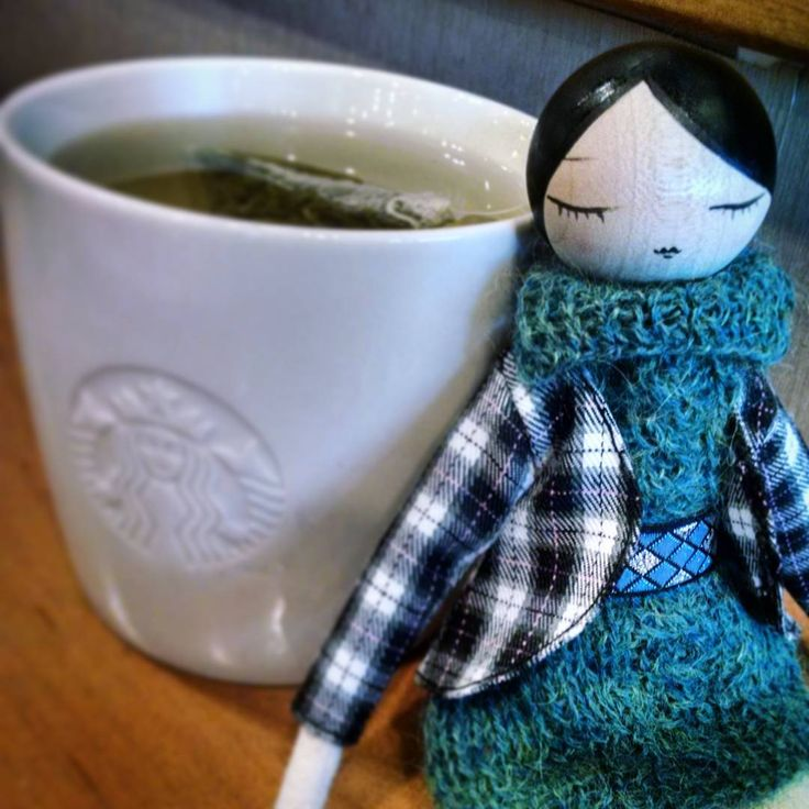 Emma and a Cuppa...my first view of these wonderfully dressed Marbushka dolls..I…