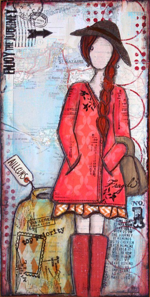 Celle qui voulait voir le monde | by Manuela les doigts pleins d'encre