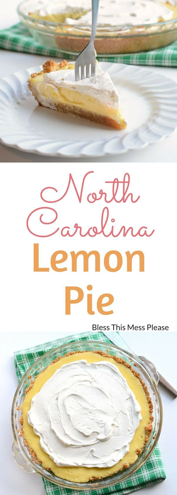 North Carolina Lemon Pie ~It's a sour, sweet, salty perfect pie combo that's easy with no traditional crust to roll out. North Carolina Lemon Pie is my kind of dessert!