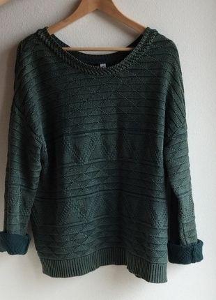 Kaufe meinen Artikel bei #Kleiderkreisel http://www.kleiderkreisel.de/damenmode/strickpullover/123015386-lassiger-gruner-pulli-im-used-look