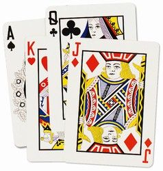 $3.72 Large Playing Card Cutouts - 18 inches tall (4/pkg) will stand out on your wall.