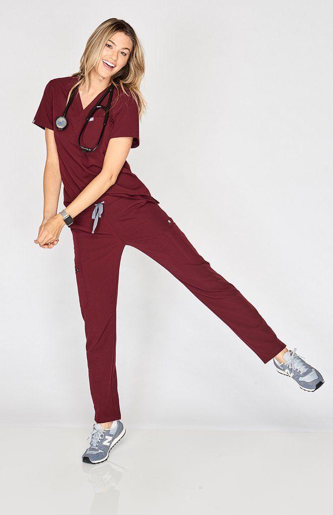 3ca52d66232 Womens Yola - Skinny Scrub Pants | NEW COLOR: Burgundy | Scrubs outfit,  Scrubs uniform, Medical scrubs
