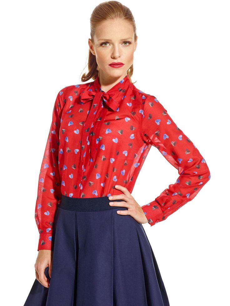 Czerwona koszula damska Lambert 299.90 - wolczanka.pl - Wolczanka.pl sklep internetowy