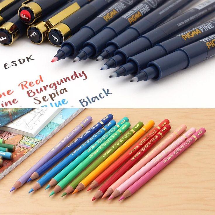 Coming this week: Sakura Pigma Fine drawing pens and Uni Arterase color pencils!  . #comingsoon #arterase #uniarterase #colorpencil #sakurapigma #drawingpen #artsy #artsupplies #stationeryaddict