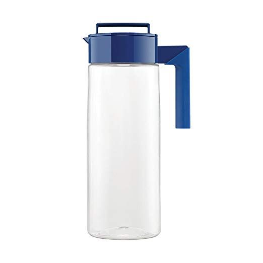 Takeya Patented And Airtight Pitcher Made In The Usa 2 Quart Blueberry Color Perfect For Breakfast Smoothie Storage Carafe Pitcher Tea Pitcher Pitcher