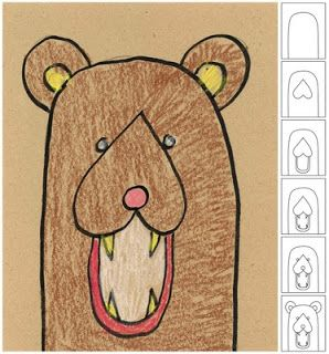 Wk 3 , simple shape for upside-down image Art Projects for Kids: drawing