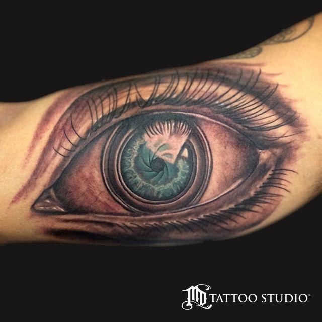 Camera Lens Eye Tattoo Tats Camera Tattoos Leg