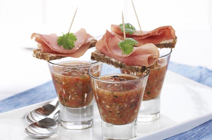 Gazpacho med spekeskinke