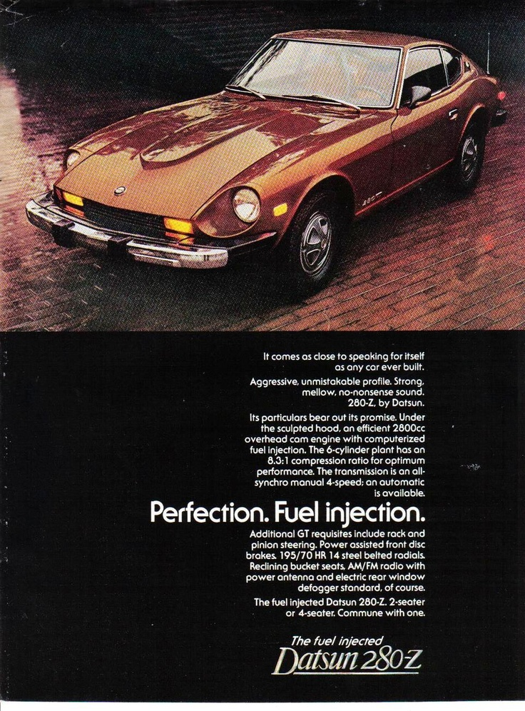 280-Z Datsun Original Full Page Print Ad - Collectible