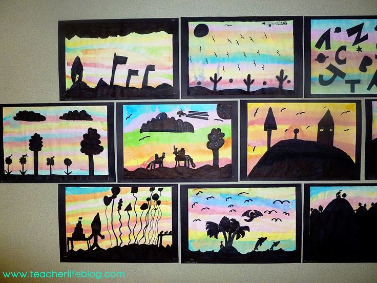 Beginning Of The Year Silhouette Art Project Before Back To School Night