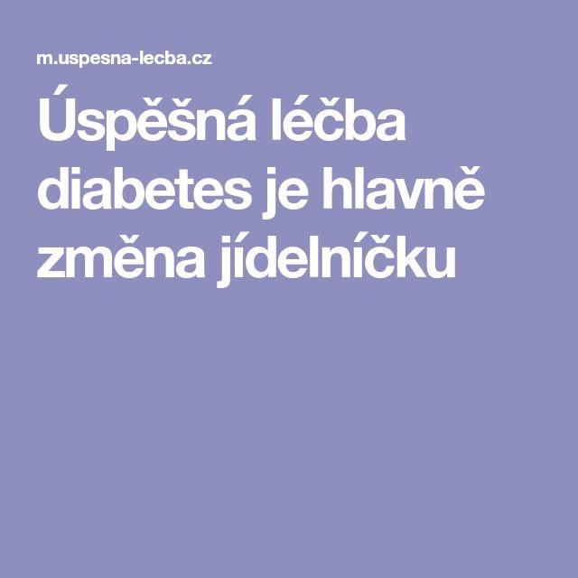 Úspěšná léčba diabetes je hlavně změna jídelníčku