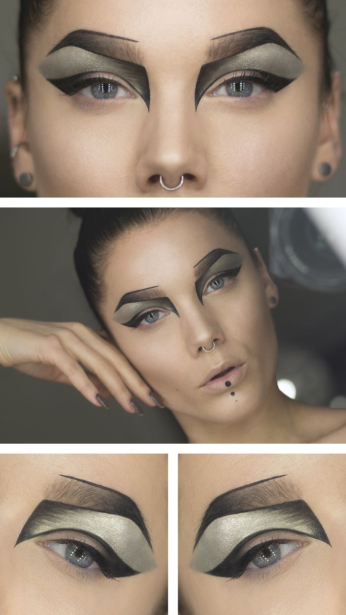 Straight Line Tattoo Artist Uk : The best futuristic makeup ideas on pinterest