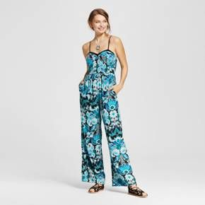 The Women's Bra Cup Jumpsuit by Xhilaration™ (Juniors') whisks your style away on a tropical vacation. With bold attitude, the women's printed romper is a statement piece with instant impact.<br><br>Used to Women's sizes? Size up in Junior's or check the size chart to determine best fit.