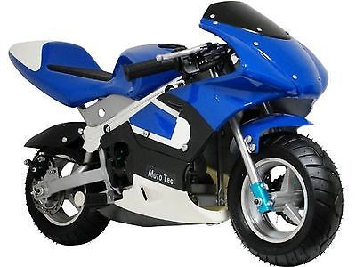Gas Scooters 75211: Mototec Gas Powered Blue Ride-On Pocket Bike - Non Ca Compliant - New! -> BUY IT NOW ONLY: $359 on eBay!