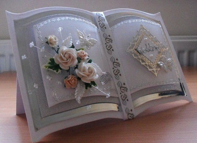 bookatrix style handmade wedding card | sold | Lesley Hawkins | Flickr