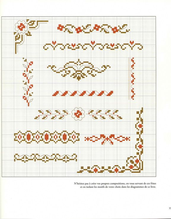 Galley.ru /  Book::Veronique Enginger 9 Фото #55 KIM-2 {floral border cross stitch patterns}