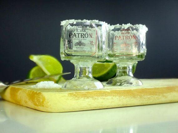 One Patron Tequila Bottle Margarita Shot Glass 50ml by Rehabulous