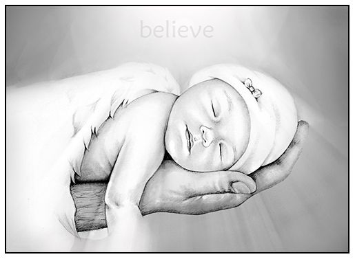 Angel baby portraits. Early pregnancy and infant loss remembrance portraits.   Portraits by Dana