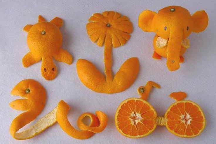bucce di agrumi  e fantasia arancione / orange art
