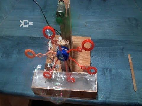 Cómo hacer una Máquina de pompas eléctrica - YouTube
