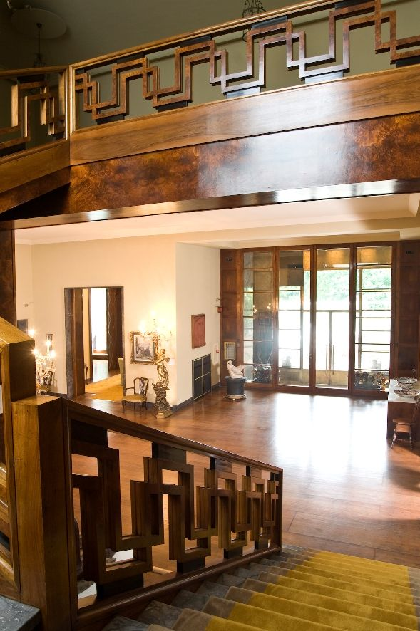 Villa Necchi Campiglio, a 1930's villa in the heart of Milan. The staircase is a stunner. The set of I Am Love with Tilda Swinton.