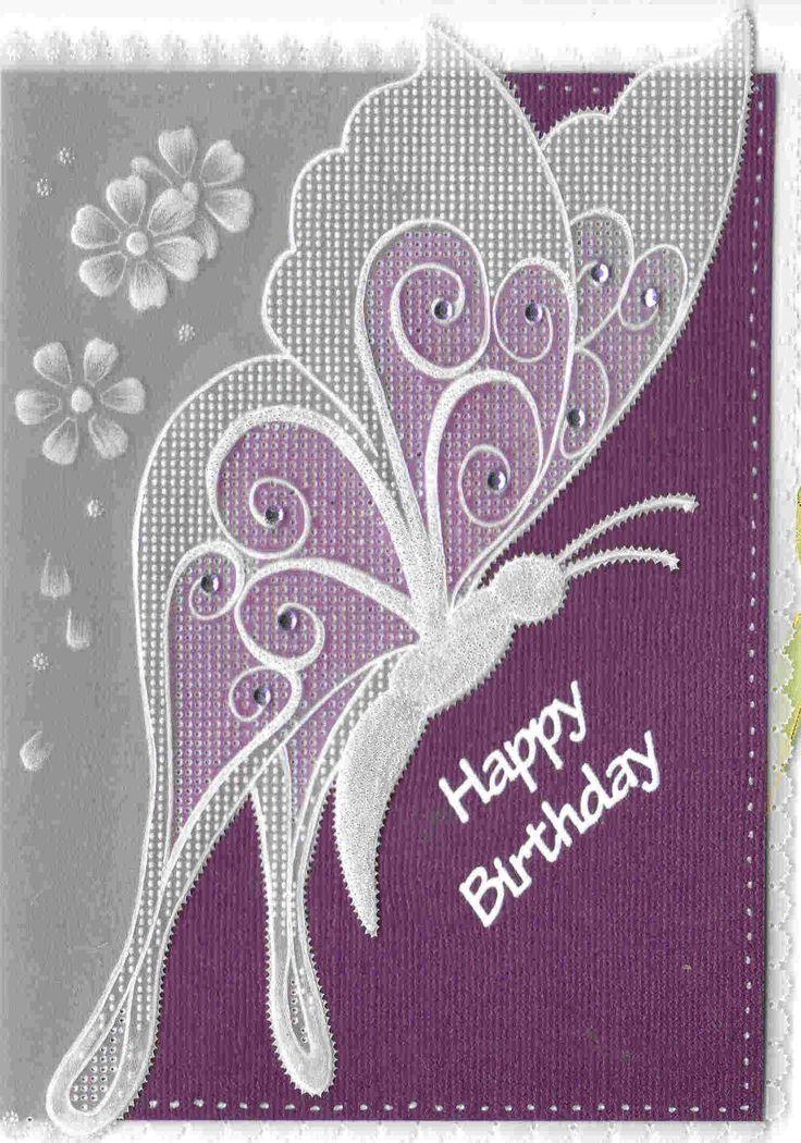 papillon Lesley - Pergamano Handmade Card