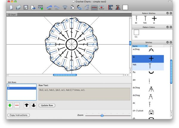 Knitting Pattern Design Software : Stitch works software great chart making app for crochet