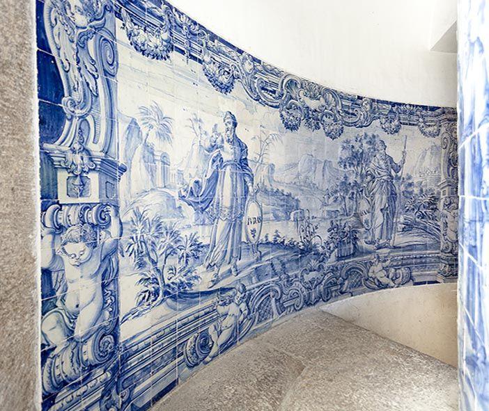 Rio de Janeiro | Igreja de / Church of Nossa Senhora da Glória do Outeiro | coro alto / choir | Judas e Isaac #Azulejo #AzulEBranco #BlueAndWhite #Barroco #Baroque #Brasil #Brazil