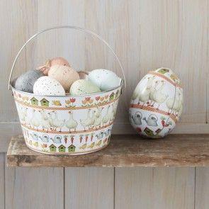 Easter Goose Tin Bucket