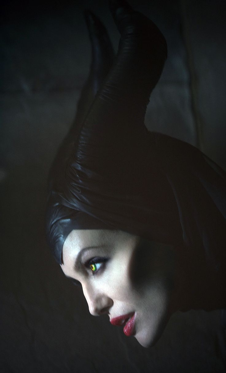 Maleficent - Angelina, my favorite evil disney character :P