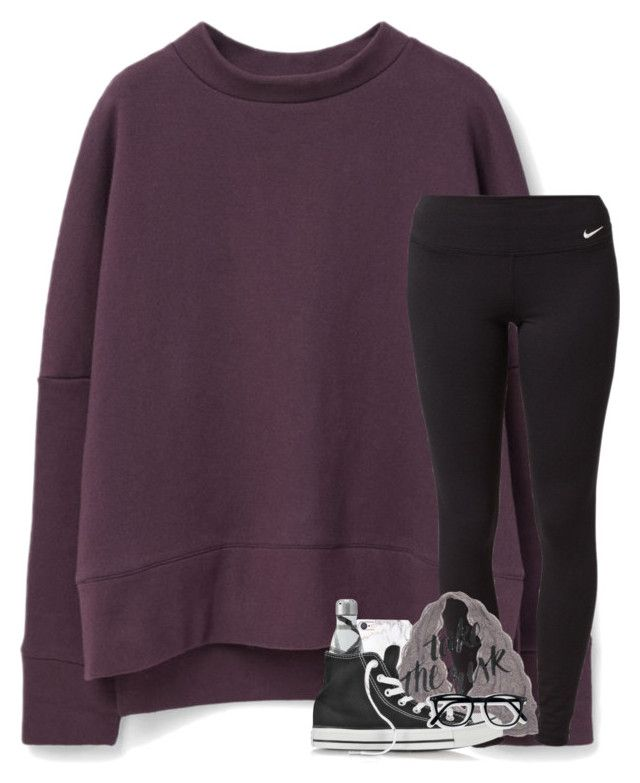 """""""do the girls back home touch you like i do"""" by elizabethannee ❤ liked on Polyvore featuring MANGO, NIKE, russell+hazel and Converse"""
