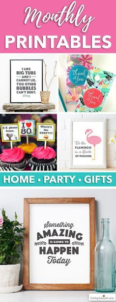 Join the Living Locurto Fun Club! A monthly membership that gives you exclusive access the most creative printable designs! Make DIY Home decor, party and homemade gifts. Printable designs for Wall Art, Cards, Calendars, Planners, Gift Tags and more. #printables #printable #wallart #homedecor #printabledecor #calendar