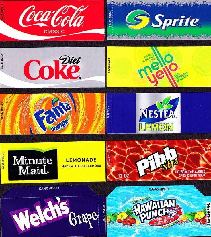 Coke Machine Labels 10 Coke Mixed Set Small Flavor