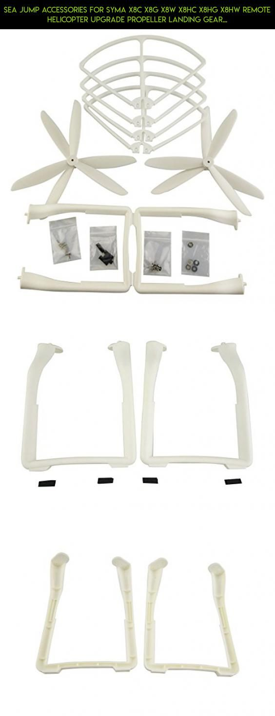 Sea jump accessories for SYMA X8C X8G X8W X8HC X8HG X8HW Remote Helicopter Upgrade Propeller Landing Gear Protection Ring X8C Aircraft white Parts #products #tech #accessories #parts #plans #fpv #shopping #syma #camera #technology #drone #kit #gadgets #racing
