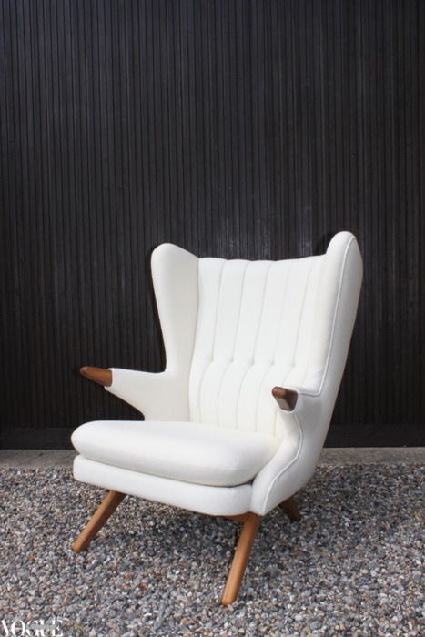 Thanks then must go to Jeanette Sorensen of Danish Red in Melbourne for convincing Skippers Furniture in Denmark to relaunch the original armchair in limited numbers in teak and oak. The first shipment of the much-coveted classic arrived in Australia at the end of 2011.