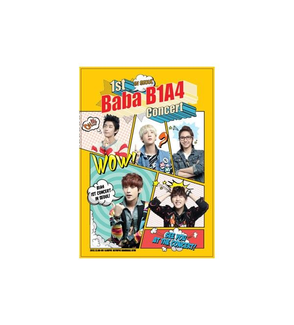 B1A4 - 1st Concert: #baba   B1A4 In #Seoul  DVD .Pack of 3 discs buy only for $39.77.Visit @  http://www.catchopcd.net/en/kpop-cd-dvd/5116-b1a4-1st-concert-baba-b1a4-in-seoul-dvd.html