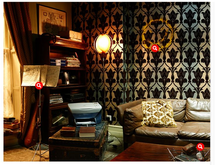 Sherlock 39 s apartment 221b sherlock holmes pinterest for Dots design apartment 8