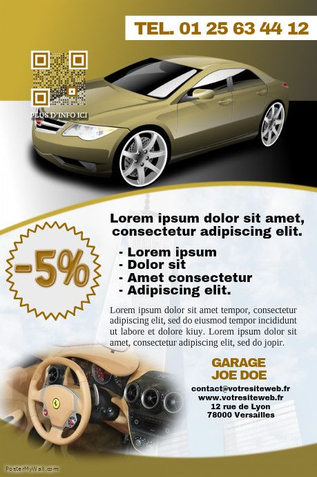 41 best Poster Concession Auto images on Pinterest Cars, Posters - auto detailing flyer template