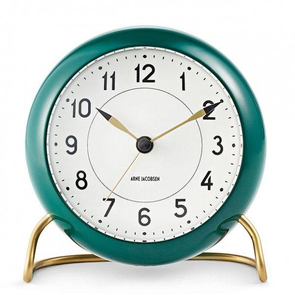 Arne Jacobsen Station Table Alarm Clock - Green