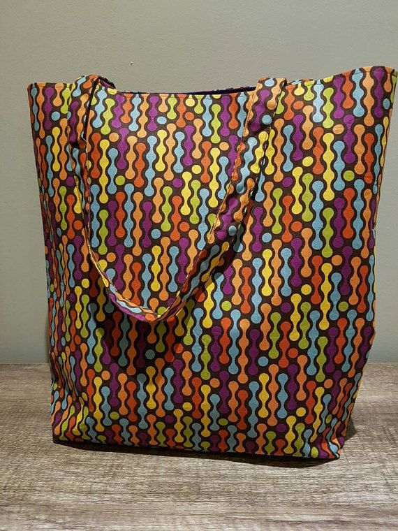Check out this item in my Etsy shop https://www.etsy.com/au/listing/267329183/handmade-retro-pattern-tote-bag-with
