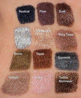 Mally Evercolor Shadow Sticks Dusk, Champane, Topaz, Saddle Shimmer, Twilight....I love all the colirs!!