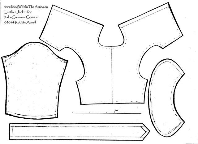 Pattern for Replacement Jacket for Corinne by Italo Cremona
