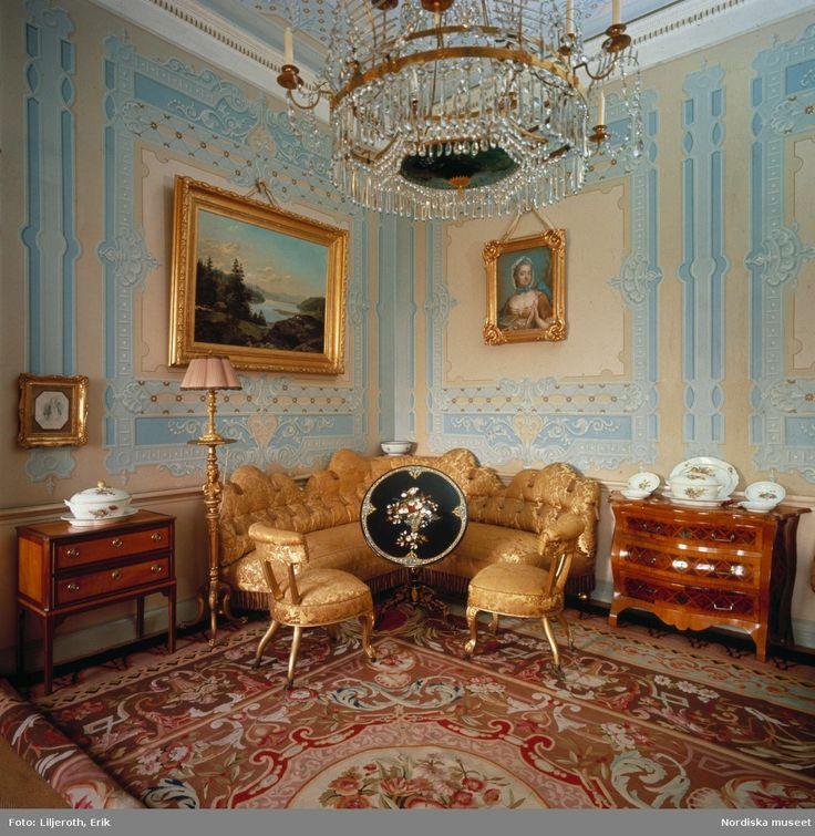 Stjernsunds slott. Förmaket är så gott som orört sedan 1850-talet. Landskapet…