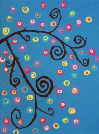 "Saatchi Art Artist Sherry Reid; Painting, ""3 Piece Surreal Trees Part 3"" #art"